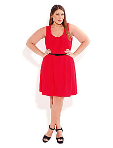 Red Bow Baby Dress by City Chic