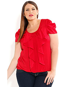 Bow Front Top by City Chic