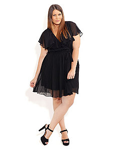 Pleated Princess Dress by City Chic