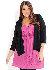 Cross Back Drapey Jacket by City Chic