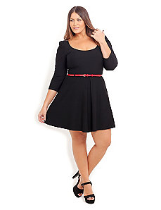 Ponte Skater Dress by City Chic