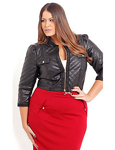 Cher Quilted Jacket by City Chic