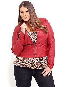 Red Joni Jacket by City Chic