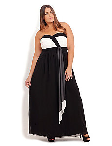 Chloe Drape Maxi Dress by City Chic