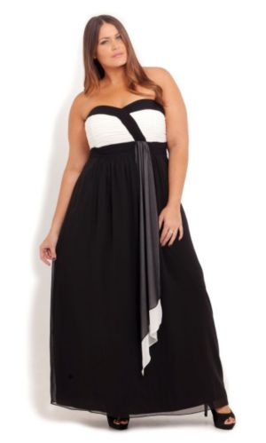 Chloe Drape Maxi Dress