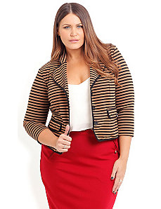 Preppy Stripe Jacket by City Chic