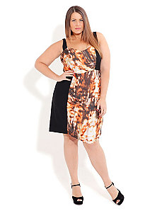 Amber Flame Dress by City Chic