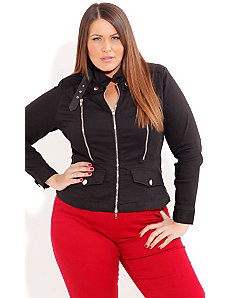 Elbow Patch Jacket by City Chic