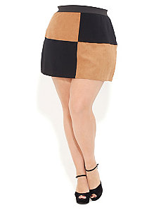Checker Board Skirt by City Chic
