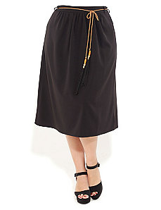Tassle Tie Midi Skirt by City Chic