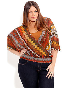 Cool Aztec Top by City Chic