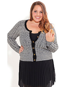 Cutie Marl Cardigan by City Chic