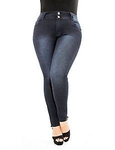 Apple Skinny Jeans Short by City Chic