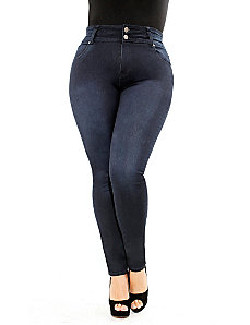 Hourglass Skinny Jeans Short by City Chic