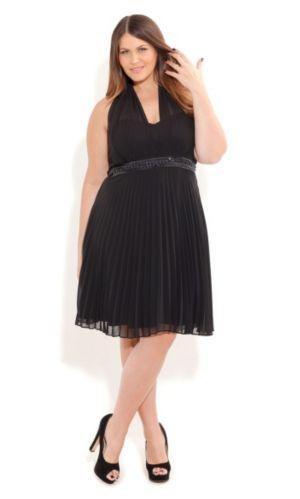 Halter Angel Pleated Dress