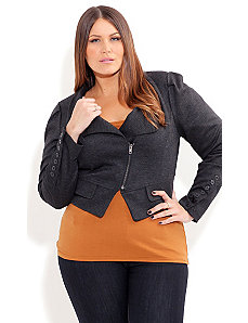 Birds Eye Crop Jacket by City Chic