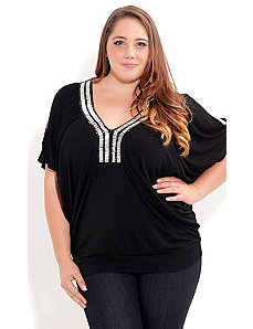 Beaded Deco Top by City Chic