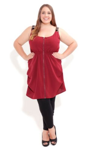 Buckle Shoulder Tunic