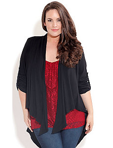 Drape Front Hi Lo Jacket by City Chic