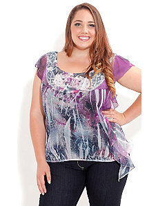Rose Garden Top by City Chic
