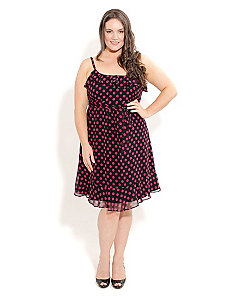 Pretty Polka Dot Dress by City Chic