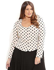 Cute Polka Dot Cardigan by City Chic