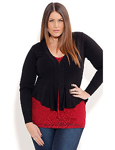 Pretty Peplum Cardigan by City Chic