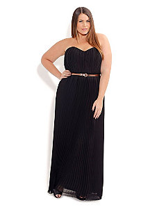 Pleat Maxi With Belt by City Chic