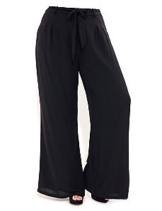 Pleat Detail Palazzo Pants by City Chic