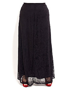 Lace Maxi Skirt by City Chic