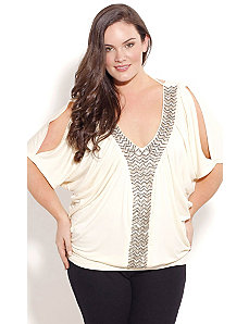 Diamond Tie Top by City Chic