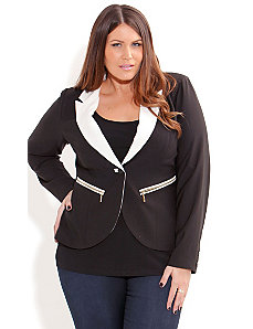 Miss Monotone Jacket by City Chic