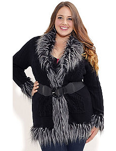 Feather Fantasy Cardigan by City Chic