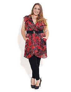 Pretty Poppy Tunic by City Chic