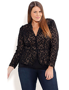 Contrast Lace Jacket by City Chic