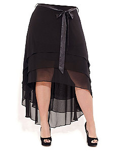 Tiered Hi Lo Maxi Skirt by City Chic