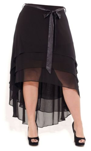 Tiered Hi Lo Maxi Skirt