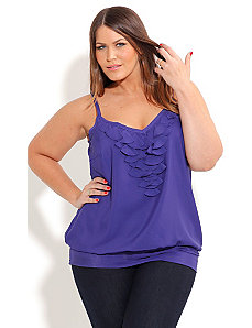Frill Front Top by City Chic