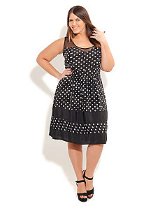 Sweetheart Polka Dot dress by City Chic