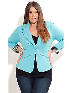 Zip Trim Jacket by City Chic