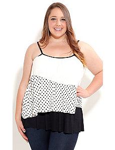 Strappy Contrast Top by City Chic
