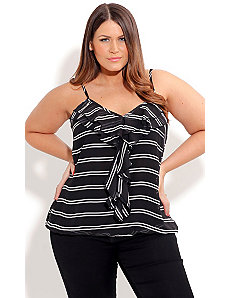 Strappy Nautical Top by City Chic