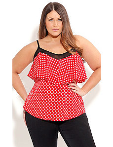 Strappy Spot Top by City Chic