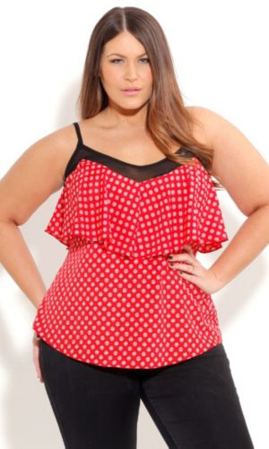Strappy Spot Top