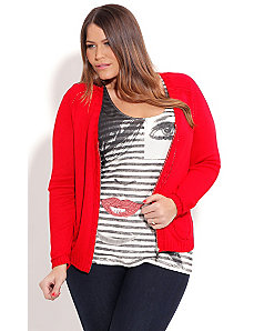 Cable Front Cardigan by City Chic