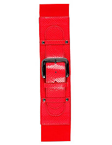 Color Patent Belt by City Chic
