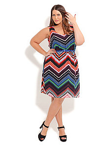 Rainbow Stripe Dress by City Chic