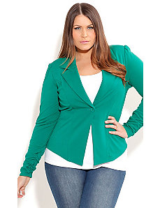 Garden Of Eden  Ponte Jacket by City Chic