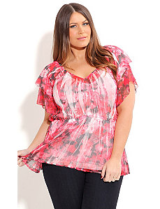 Blooming Rose Crush Top by City Chic