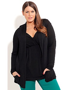 Drapey Longline Cardigan by City Chic